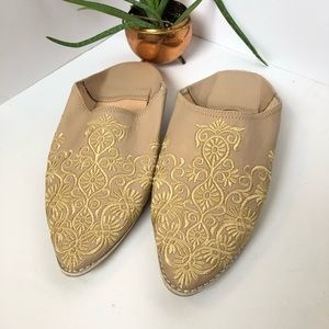 Moroccan Babouche Embroidered Slippers